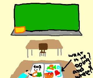 Doodling in class
