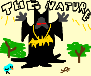 Druidic Batman protects the nature