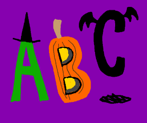 Halloween Themed Alphabet
