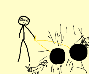 sad man has blackholes 4 eyes,each sucking in