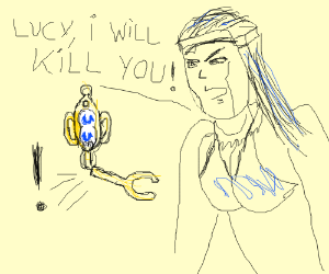 Lucy broke Aquarius' key.