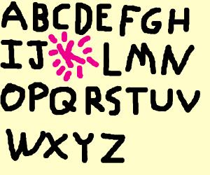 K is the best in alphabet
