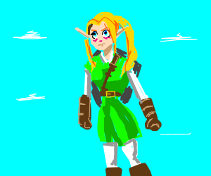 Hot Link In The New Game: Super Zelda Man