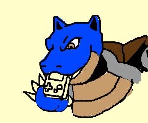 Blastoise eats Brawception B. Gameboy watches