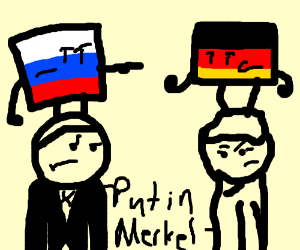 Vladimir Putin versus Angela Merkel?