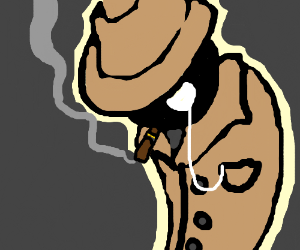 A guy with a trilby, monocle and a cigar