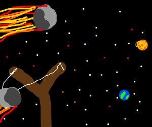 sling shotting asteroids