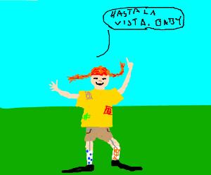 Pipi Longstocking tells you a catch phrase
