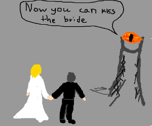 Eye of Sauron officiates wedding in Mordor