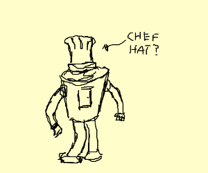 Bender in a chef robe