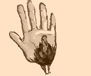 A Realistic Hand Turkey