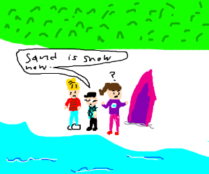 sand is snow now