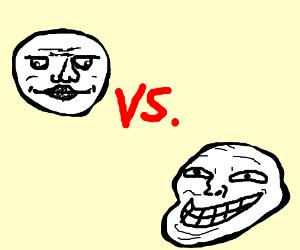 Meme face grin