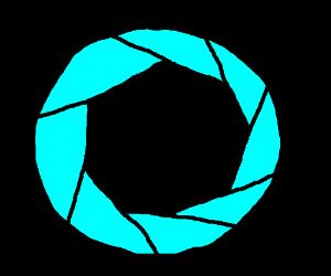 Aperture Science logo.