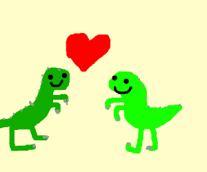 Dinosaurs in luv.