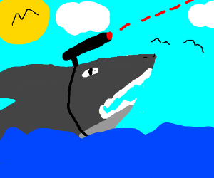 Shark With Laser Beams Attached To It