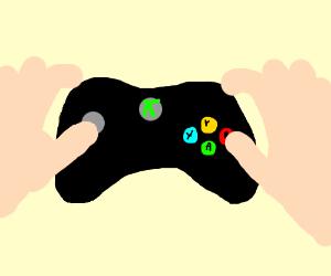 Playing Xbox