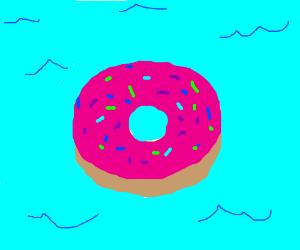 Giant tasty donut island