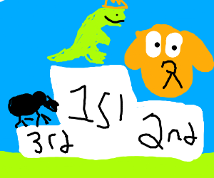 King dinosaur wins first place