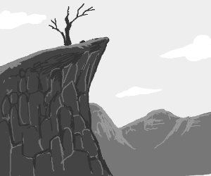 Tree On A Cliff Drawing Galleryhipcom The Hippest