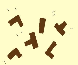 A game of jenga crashes?!