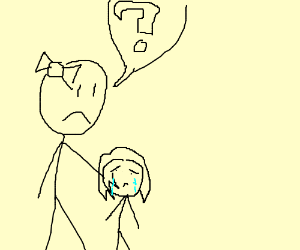 Mum concerned about crying daughter