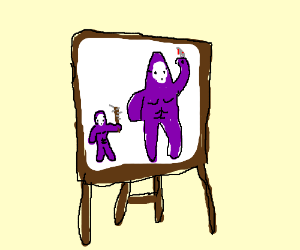 An exquisite drawing of Daddy and me