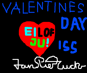 Valentines day scroll from I.S.S.