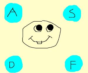ASDF keys in bubbles