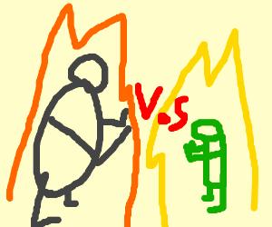 Big man vs Little man