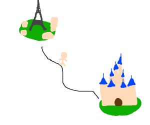 Walking from Paris to Disneyland