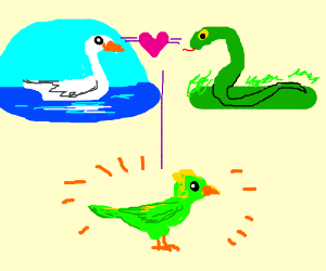 Bird is a lovechild between a swan and a snake