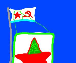 Iluminatti soviet navy flag.