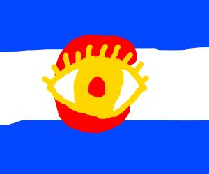 Calahrado flag has an eye