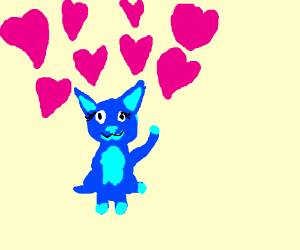your beautiful blue cat loves you so much