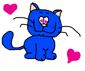 Blue cat in love
