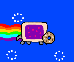 Nyan cat with donut instead of face