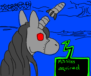 Robot Unicorn gets a missile upgrade