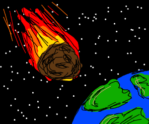 flaming asteroid hitting the earth - photo #24