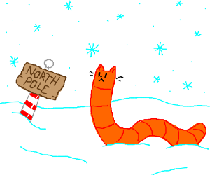 Cat worm at the North Pole