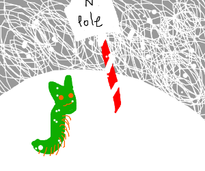 CATerpillar finds the north pole