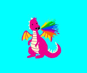 Dragon spews attack rainbows
