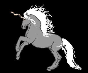 Grayscale unicorn