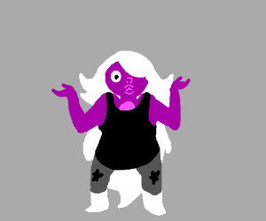 "Purple woman in bathing suit is like ""I donno"""