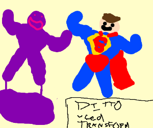 Ditto used transform to mimic Superman.