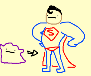 Ditto turns into Superman!!!