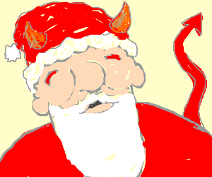 Santa at the mall actually is satan
