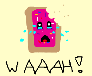 A crying poptart