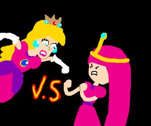 Princess Peach vs Princess Bubblegum