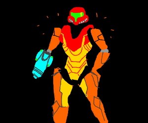 Samus' shoulders are missing